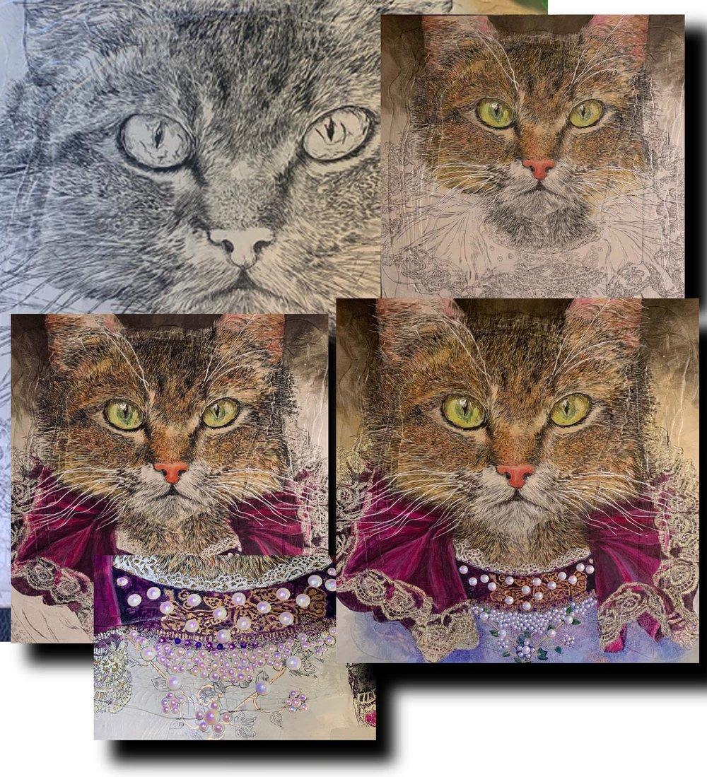 The Feline Queen_in progress.jpg