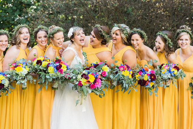 Real Weddings By Color: MESSY BUN