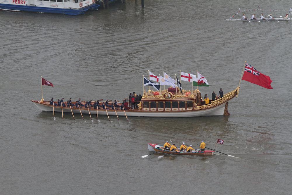 The Gloriana, Queen's jubilee flotilla