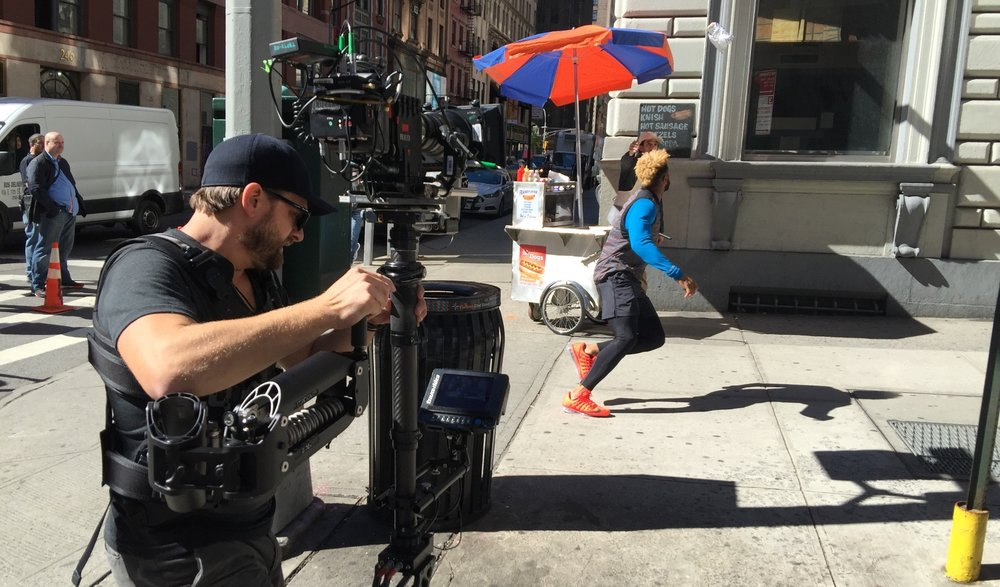 Filming Odell Beckham onset of 'Nike' commercial. Photo by Albert Elmazovski