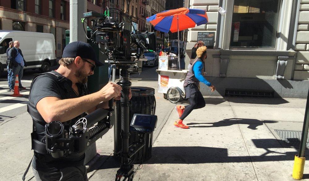 Filming Odell Beckham onset of 'Nike' commercial. Photo by Albert Elmazovski