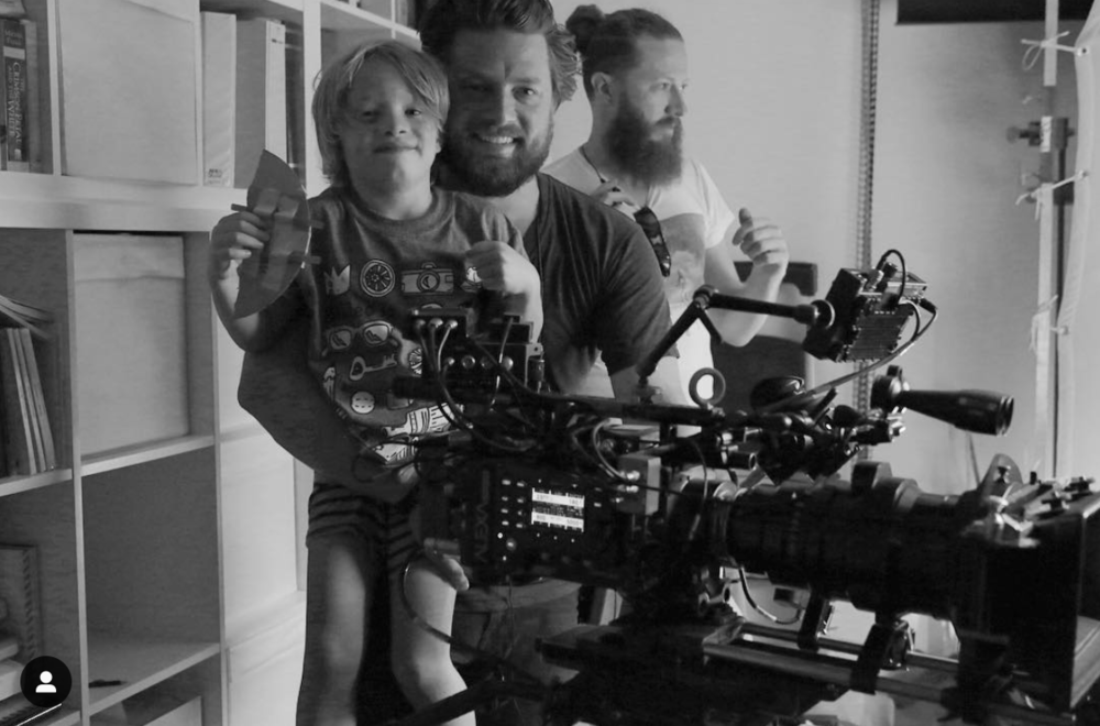 'Tightrope' film w/ my sons surprise visit onset