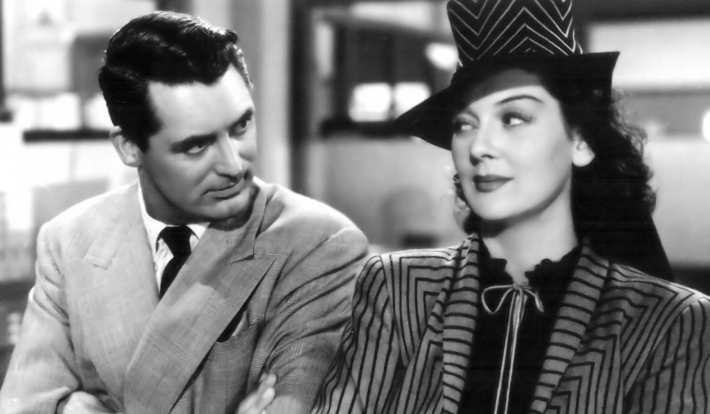 "Cary Grant and Rosalind Russell in ""His Girl Friday"""