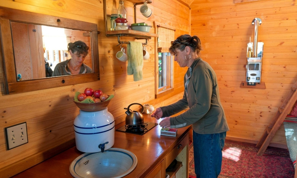 Dee Williams in her tiny home