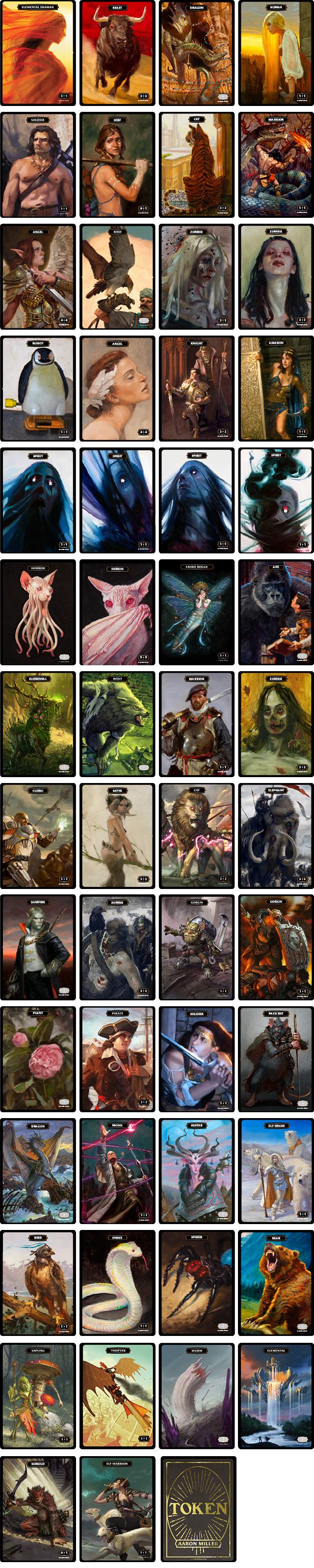 custom mtg artist tokens magic the gathering
