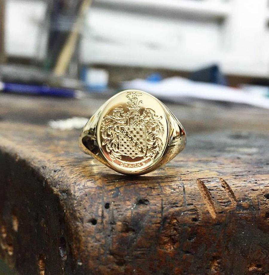 Gold Signet Ring, Mens - Benjamin Hawkins