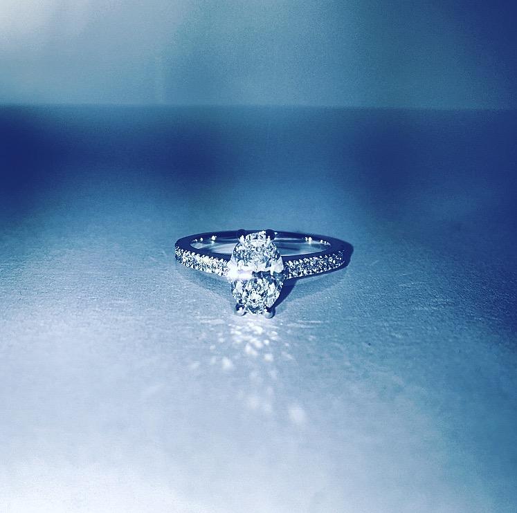 Oval Diamond Ring - Benjamin Hawkins