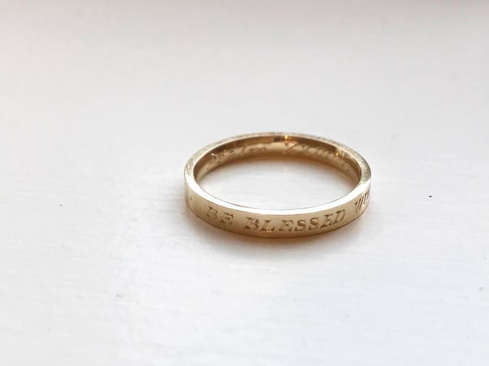 Hand Engraved Gold Ring - Benjamin Hawkins
