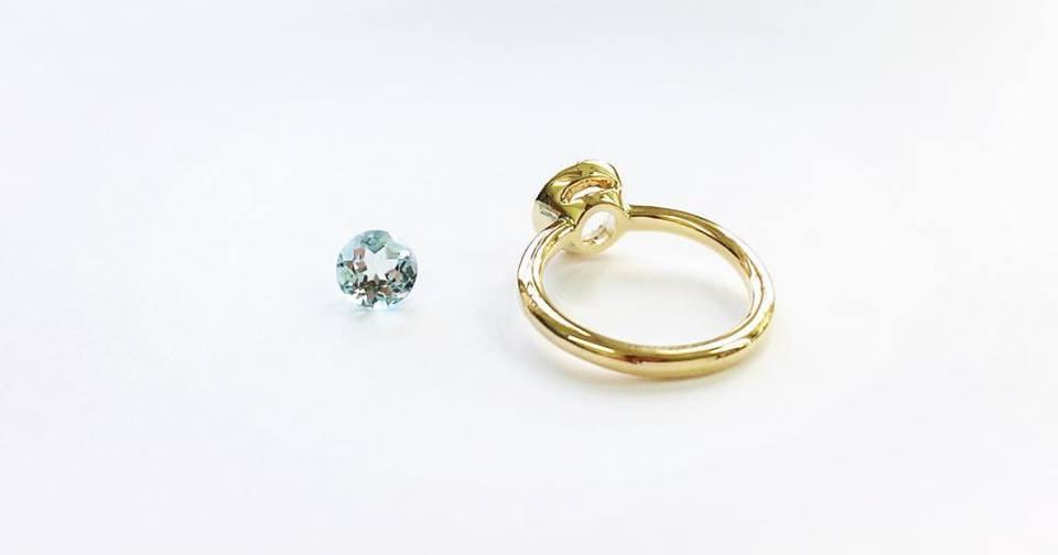 Aquamarine Ring Pre-Set - Benjamin Hawkins