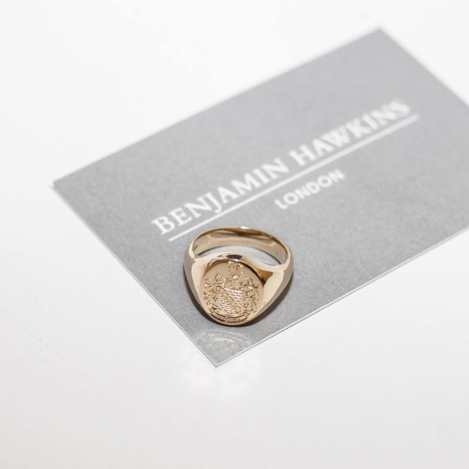 Mens Gold Signet - Benjamin Hawkins
