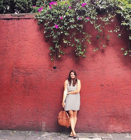World Citizen Travel Founder Meredith Donaldson on the streets in Mexico City, Mexico.