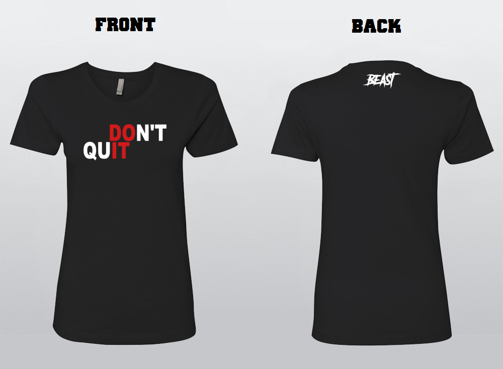 P.A. Don't Quit Women's Fitted Shirt
