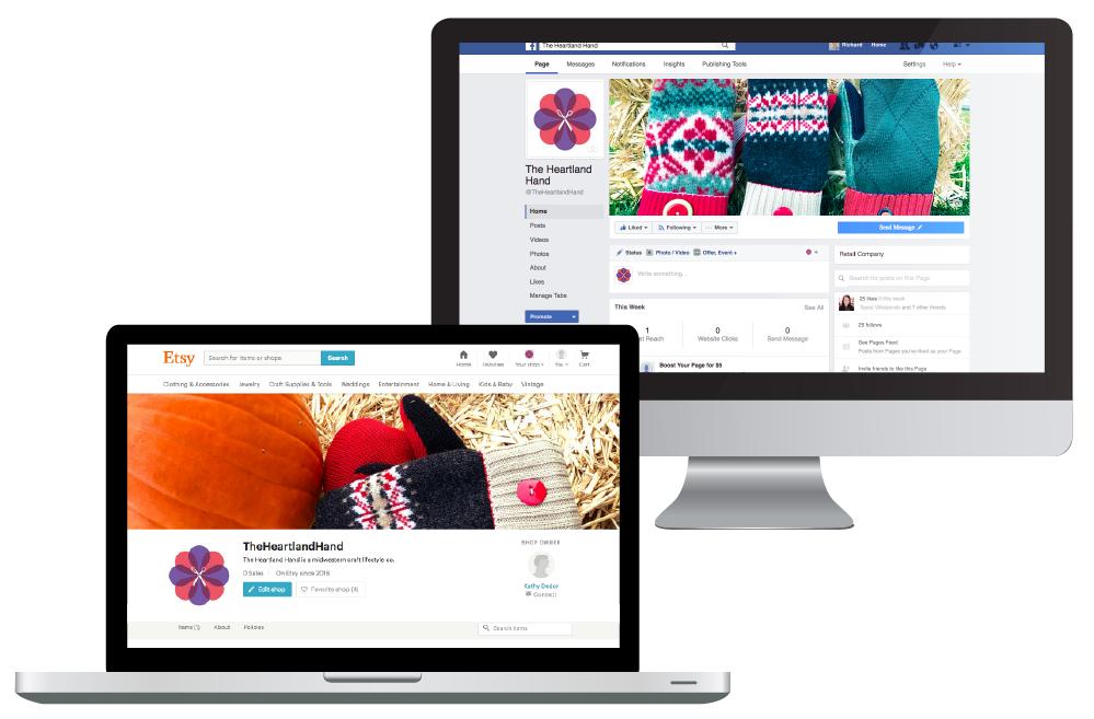 The Heartland Hand needed help with their digital marketing including social media and logo development.