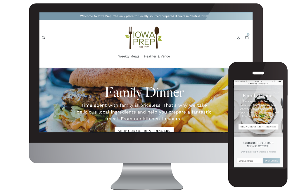 Iowa Prep - A food delivery company, new to the market, needed an enhanced eCommerce platform and website. Sprout Media partnered with Shopify to design a modern and easy to use store for easy-to-make meals.