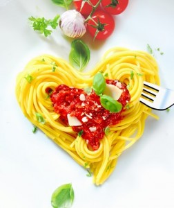 heart pasta share food