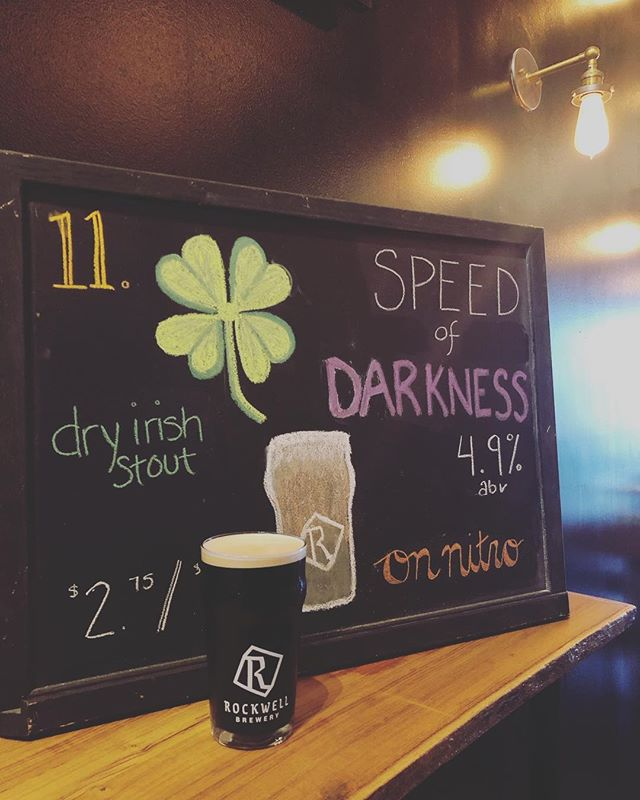 🍺BEER RE-RELEASE🍺  Speed of Darkness is back on tap folks! If you missed it this beautiful Dry Irish Stout on Nitro will be pouring on tap 1️⃣1️⃣! If you haven't tried it yet, don't miss it while it's back! It has a smooth taste that'll remind you of a Guinness.  PS. We're open all Easter weekend! 😎🐰 . . . . . #rockwellbrewery #beerwell #frederickbeer #frederickmd #downtownfrederick #drinklocal #hoppyeaster #betterthanguinness