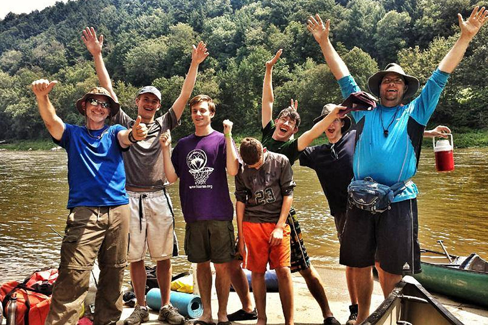 Troop 525 from Kittanning after conquering 100 miles of the Allegheny River!