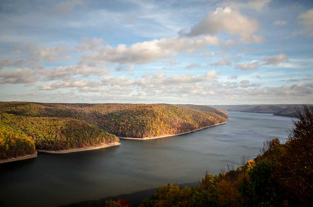 Jake's Rocks overlook into Kinzua Bay