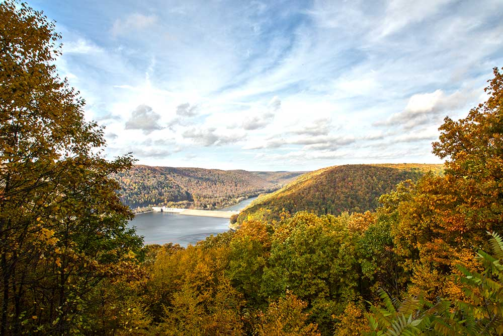 Jake's Rocks overlook onto Kinzua Dam