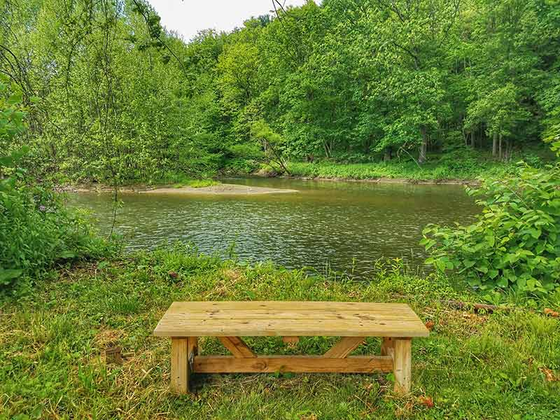 Brokenstraw Creek Bench