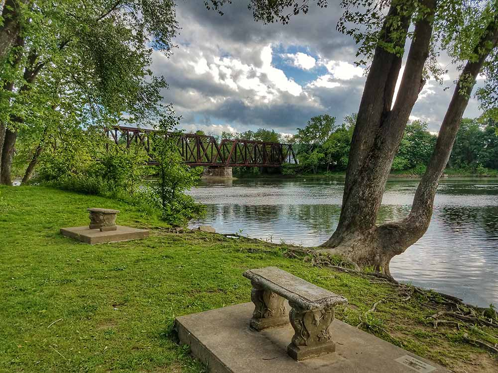 Point Park Railroad Bridge Bench