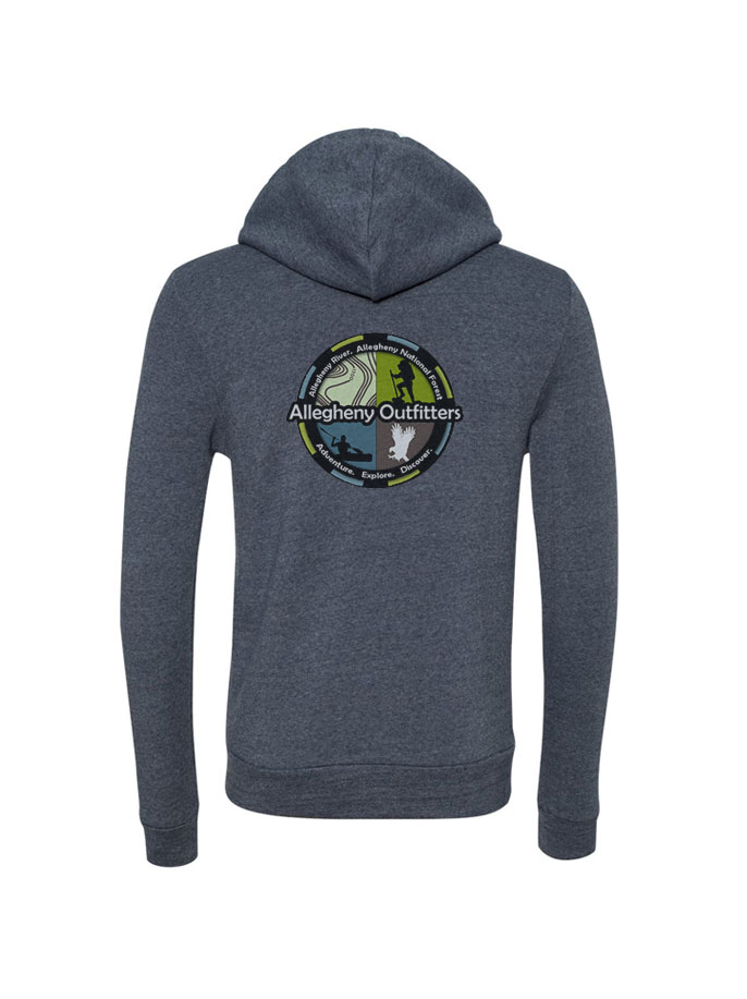 0190b0a13f3b AO Logo Zip-up Eco Fleece Hoodie  Navy — Allegheny Outfitters