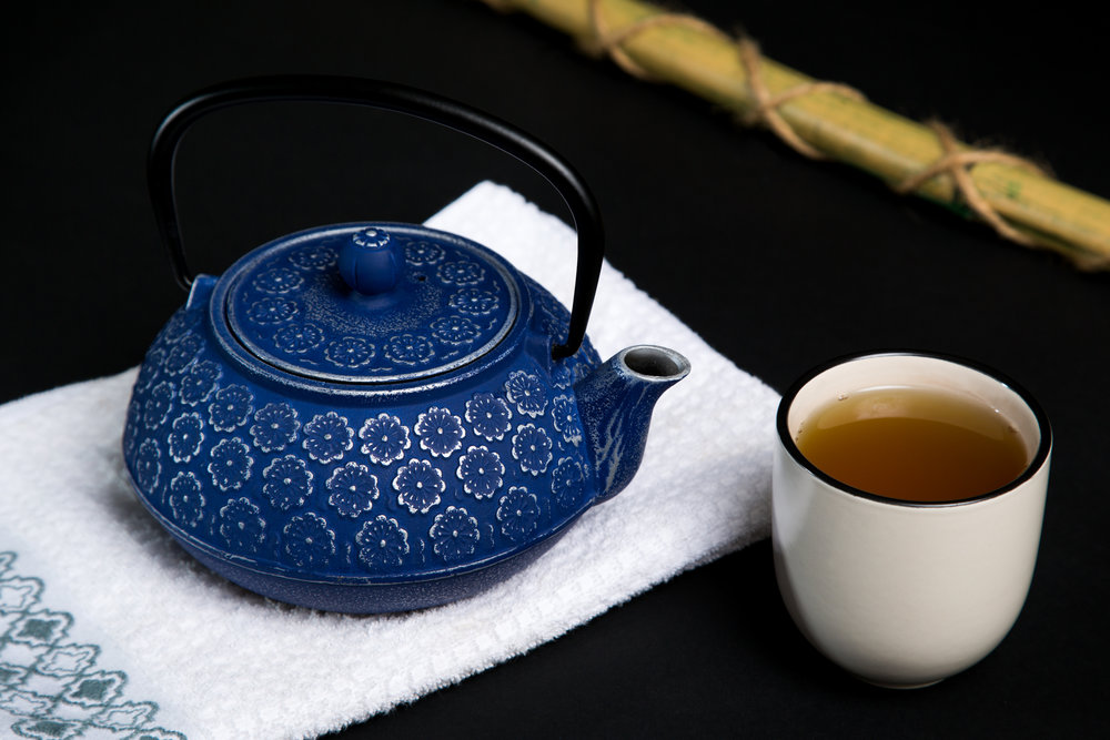 Green Tea and Japanese Style Teapot