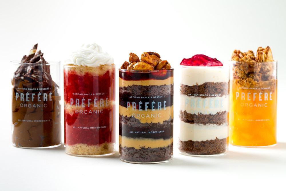 Préféré Organic Line of Desserts