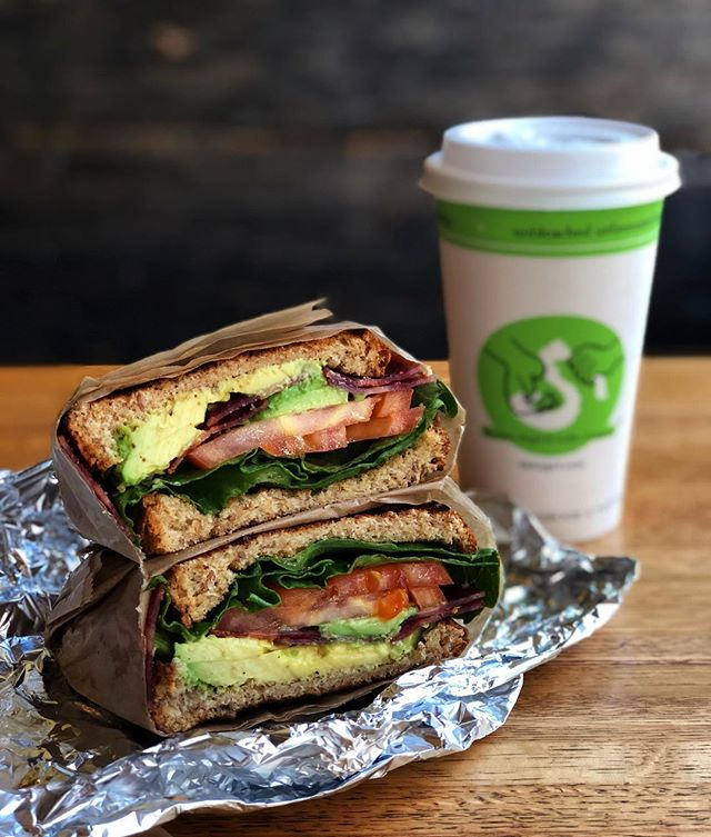 "Enjoying a tasty lunch in Manhattan today. This is the ""Twisted BLT"" complete with Turkey bacon and avocado."
