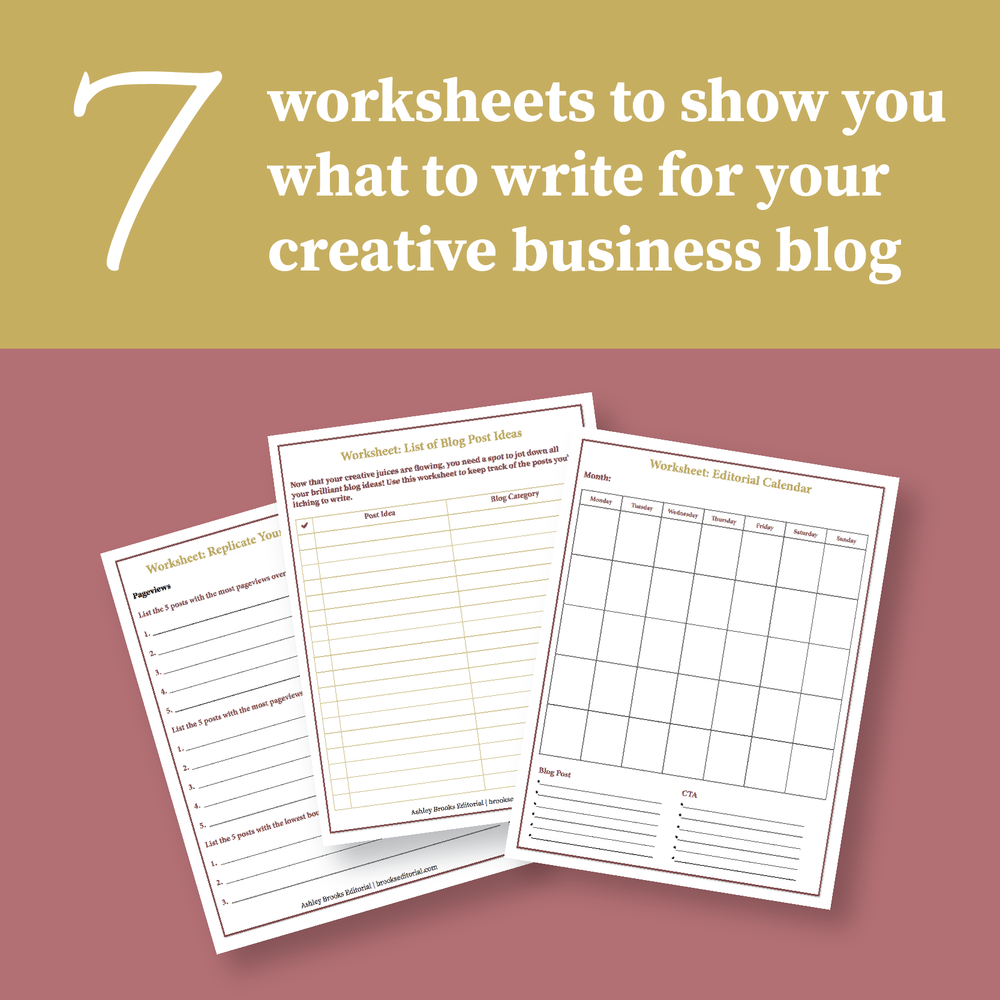 Blogging for Business Worksheets