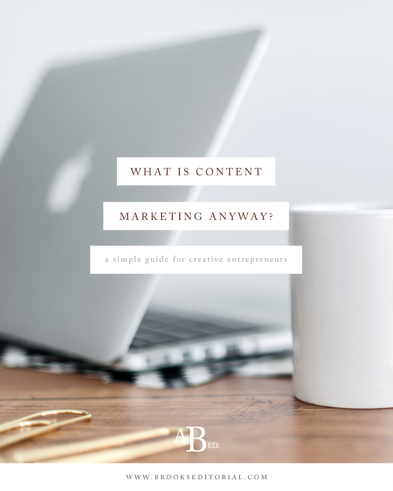 Content marketing is a trendy buzzword, but what is content marketing? How is it different from blogging? Do you really need content marketing in your online biz? Click through for the simple guide to content marketing for creative entrepreneurs!