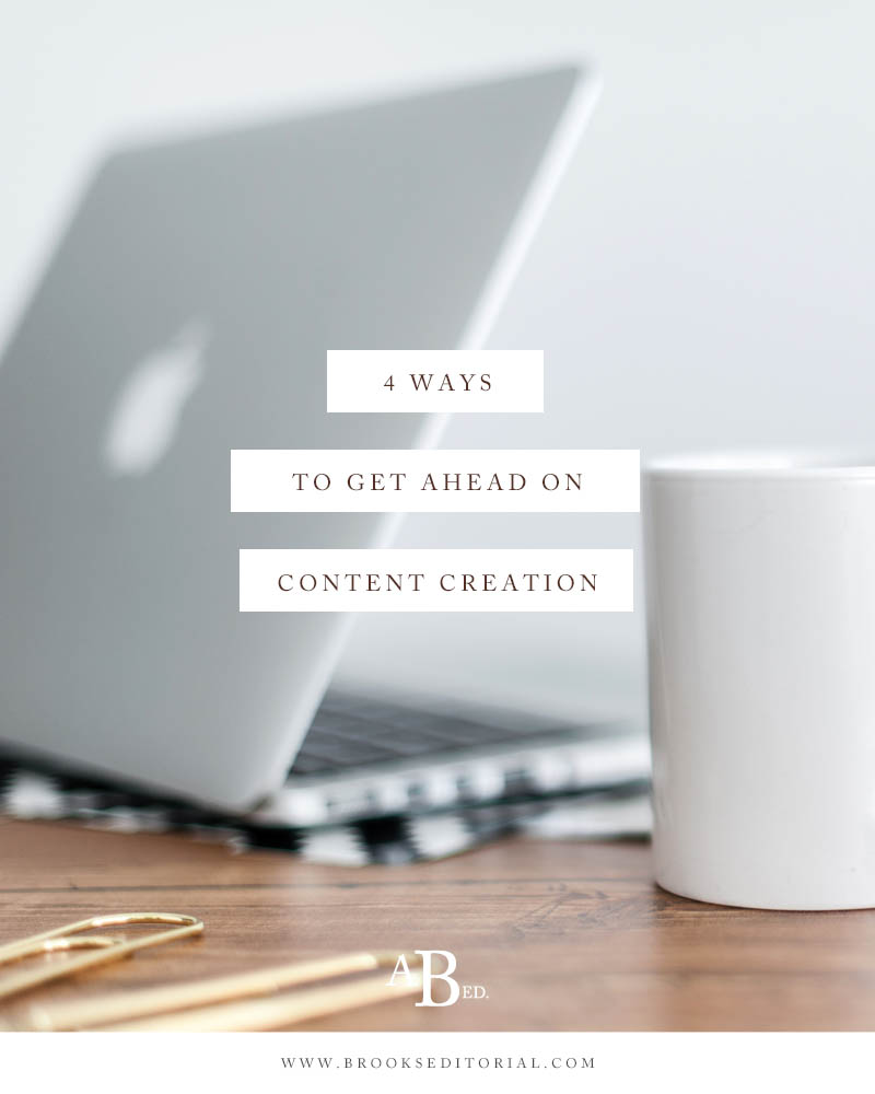 Is your blog stressing you out? Try these 4 simple tips to get ahead on content creation. Say goodbye to stressful blogging and hello to quality posts scheduled months in advance!