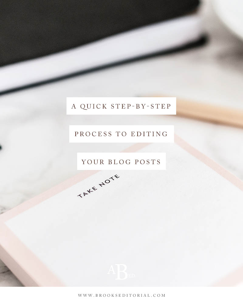 Editing your blog posts has to take a ton of time, right? Not necessarily! With a little intentionality, you can cut down on the time it takes to edit your posts. Get started with this quick step-by-step process to editing your blog posts.