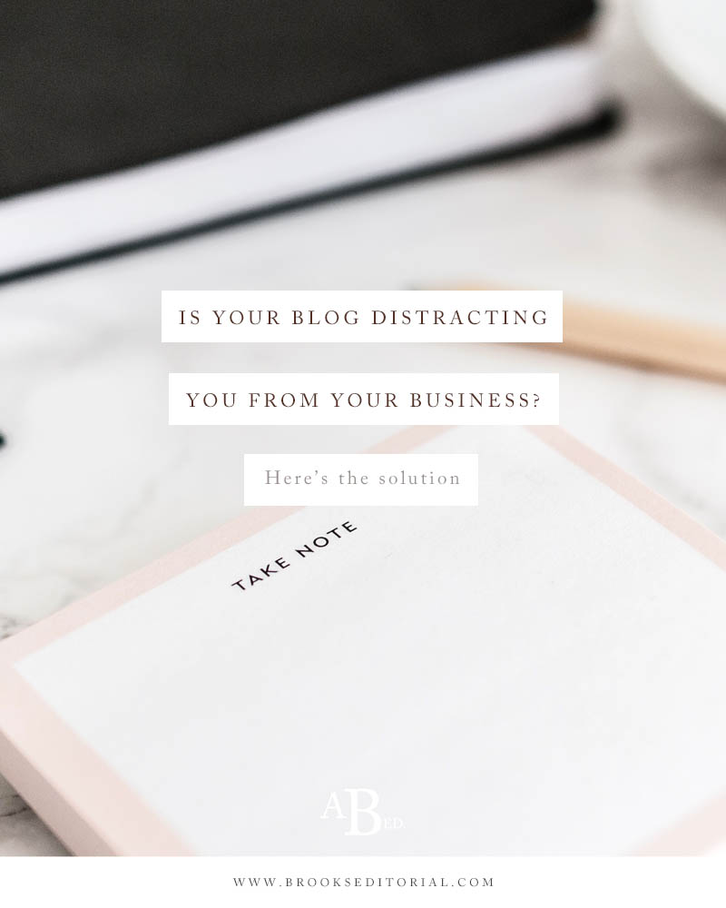 Is your blog distracting you from your business? Here's the solution.