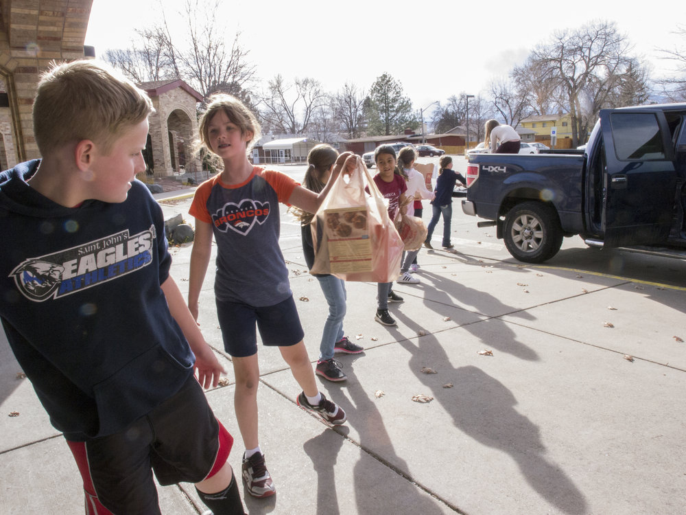 St John Catholic School Service Project Loveland