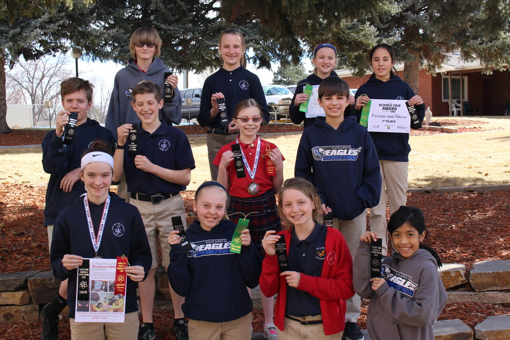 Middle School Science Fair Winners.