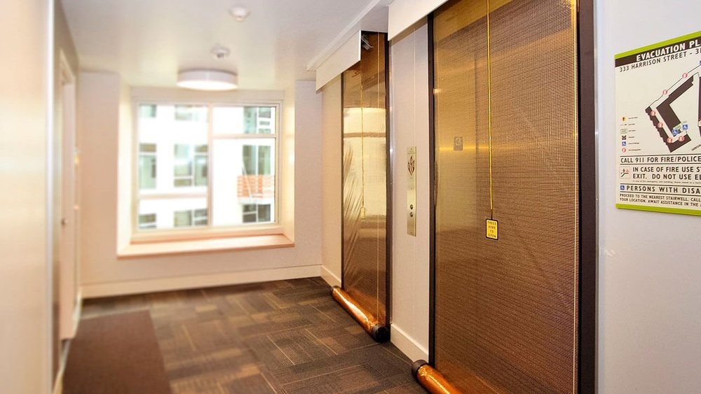 m600 -  For fire protection engineers who want to provide architects with the utmost freedom when designing elevator lobbies, the M600 Smoke Curtain is an ideal solution. The dimensions of the M600 are fully customizable, which allows it to seal nearly any opening.