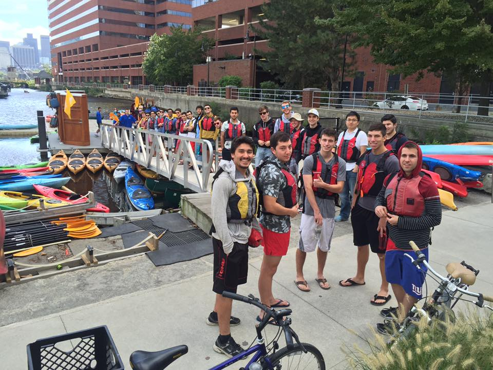 Among the favorite rush events was the kayaking of the Charles River in Boston. Opportunities like these offer potential new members and brothers the chance to get to know each other through enjoyable activities.