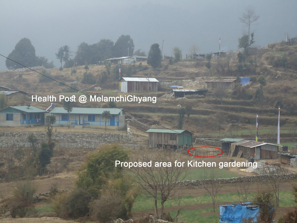 Melamchi Health Post and Site for Kitchen Garden February 2017.jpg