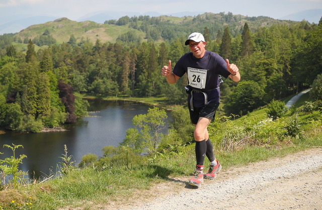 Keith on the Coniston Trail marathon - getting in practice!