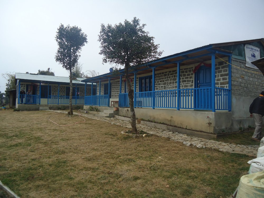 Melamchi Health Post and Nurses Accommodation at Melamchi February 2017.JPG