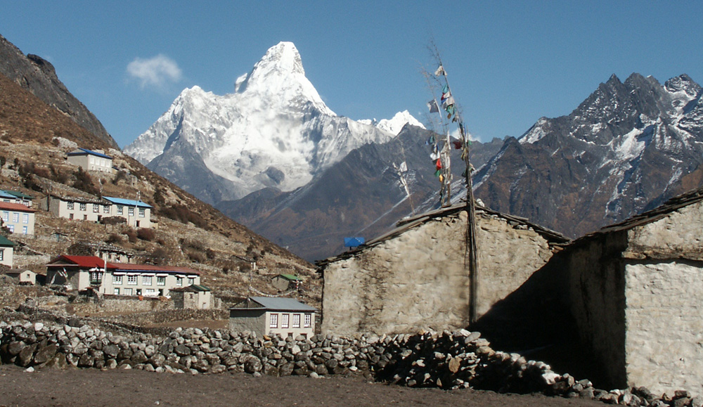 Khumjung: The Sherpa Heritage House lying in the shadow of Ama Dablam (Image taken before restoration in 2008)