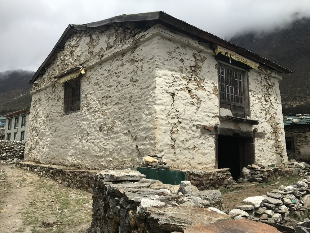 Gompa exterior highlighting earthquake damage (2)