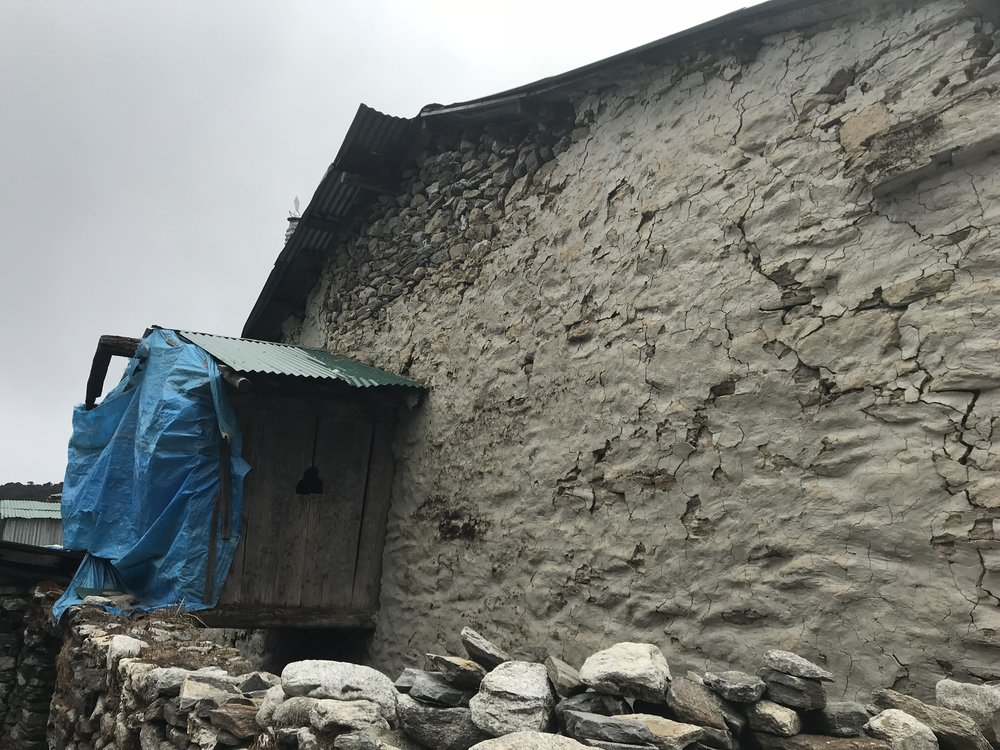 Firebox which traditionally links the main house with the Gompa