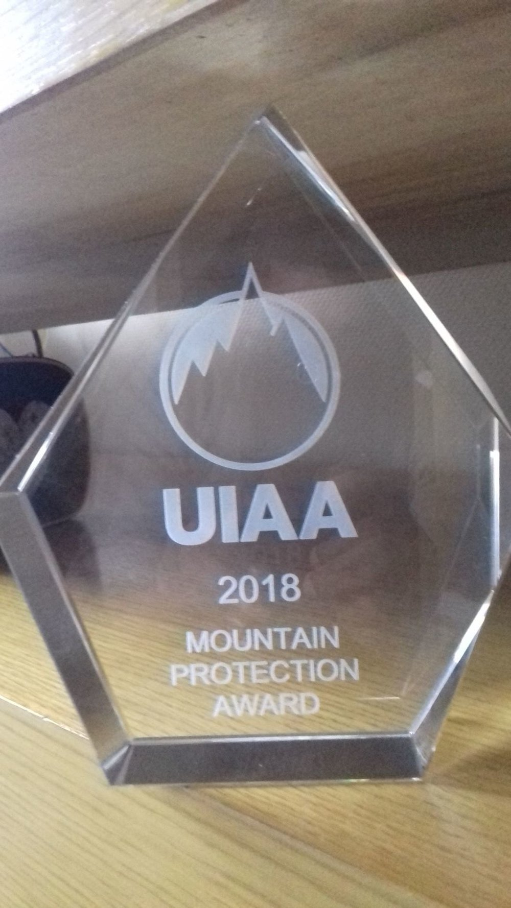The UIAA 2018 Mountain Protection Award