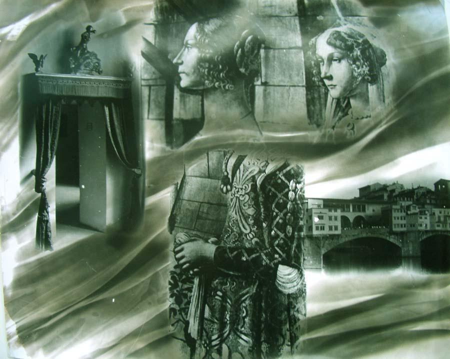 Loren Ellis Sisters in Florence 16x20  40.6 x 50.8 cm.jpg