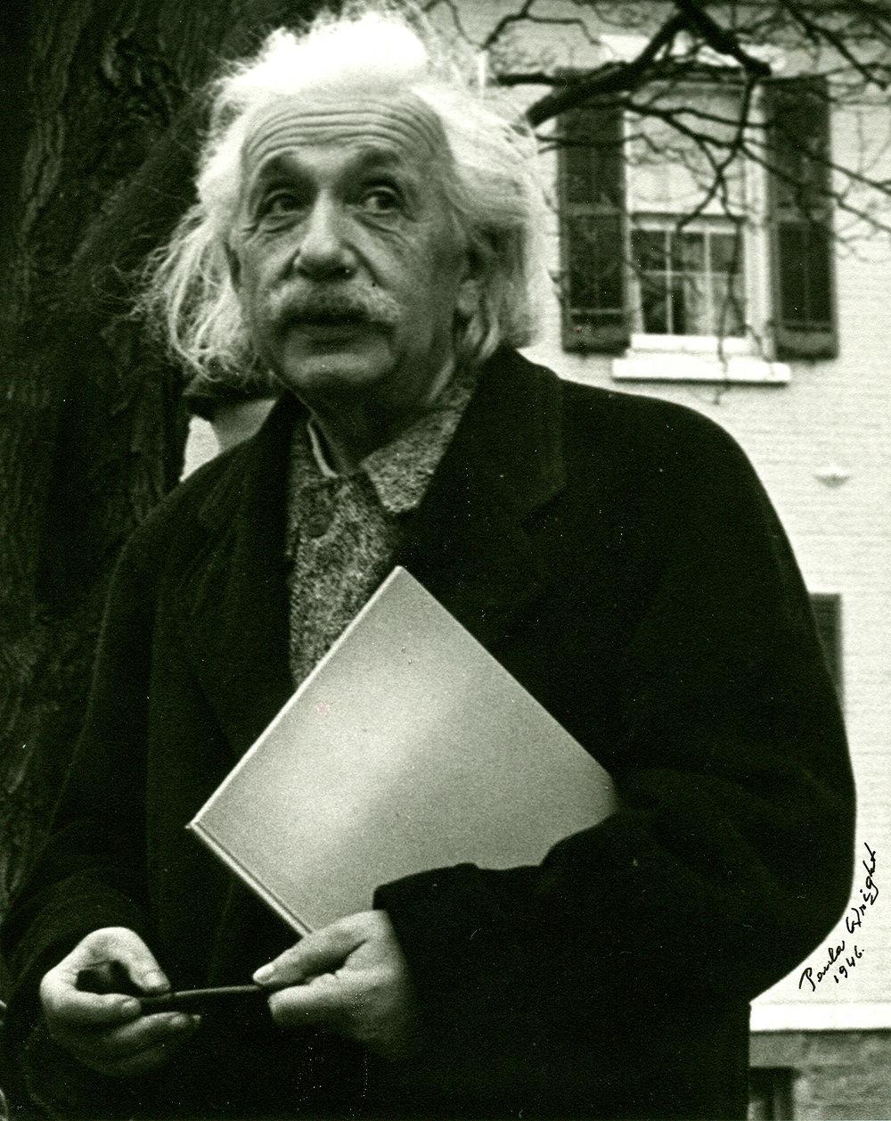 Albert Einstein on Princton Campus 1946
