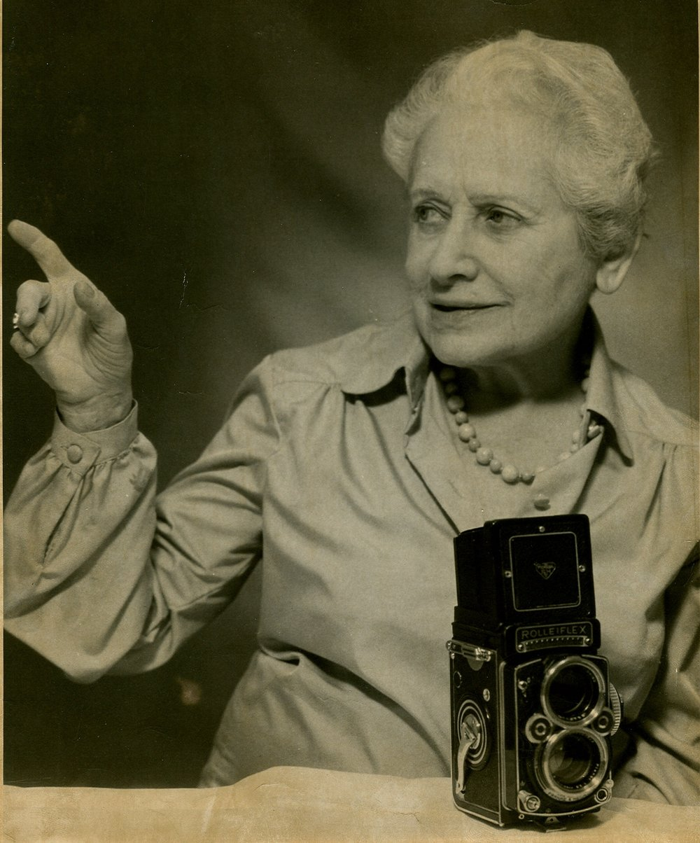 Paula with her Roloflex camera