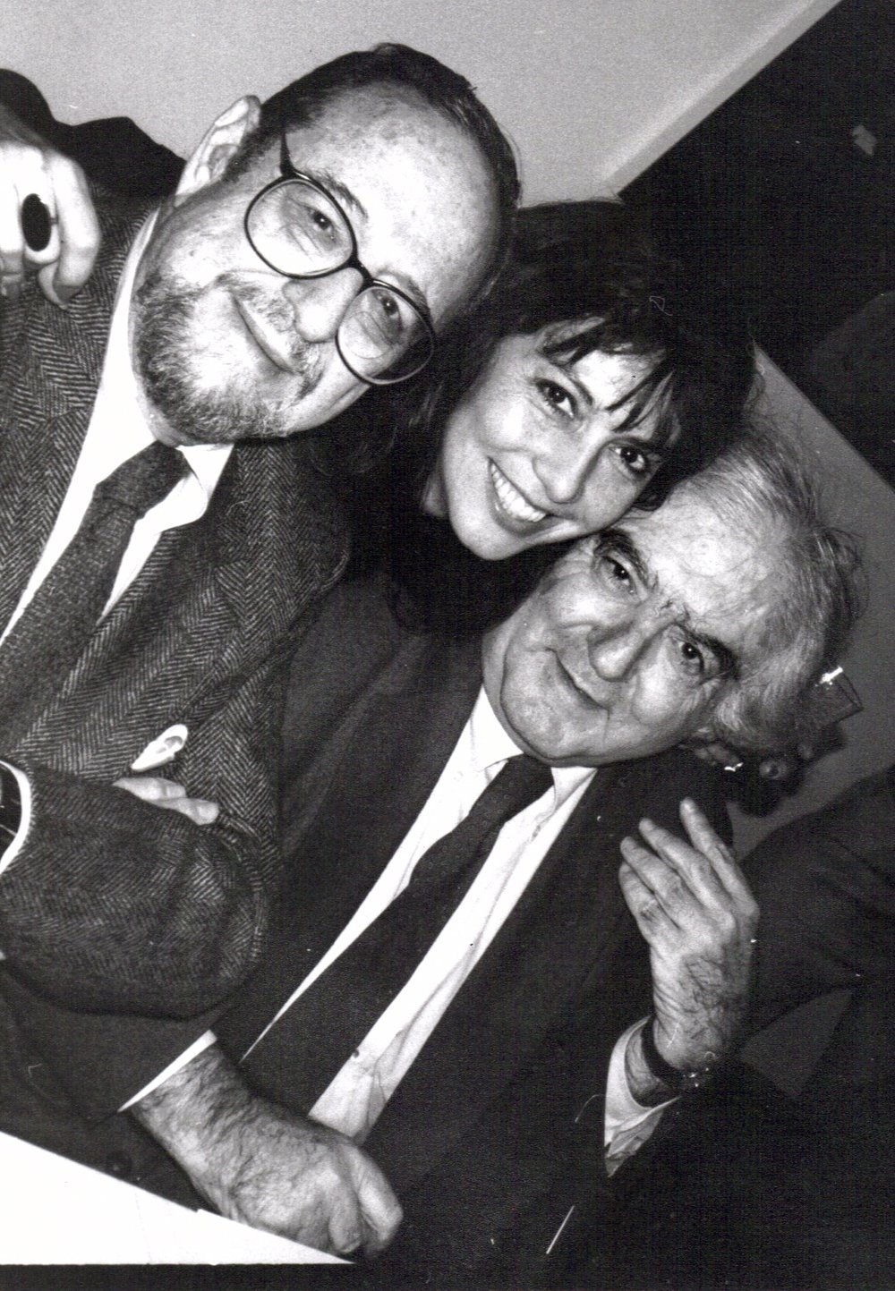 Arnold Newman Loren Ellis Cornell Capa at National Arts Club Photo Admin. club luncheon cerca 1995