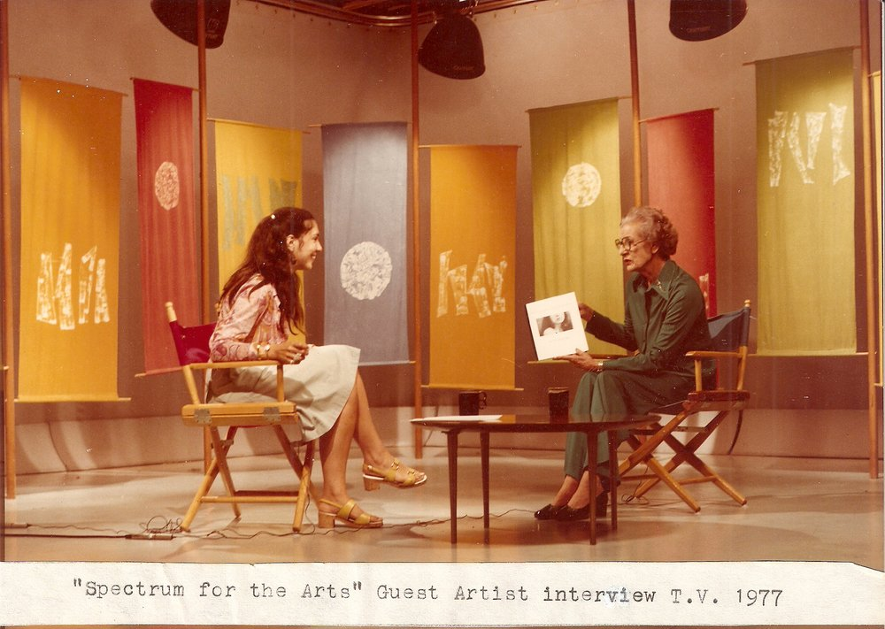 Spectrum for the Arts first TV  30 min show Sheila Stuart English first female broadcaster in England 1977.jpg
